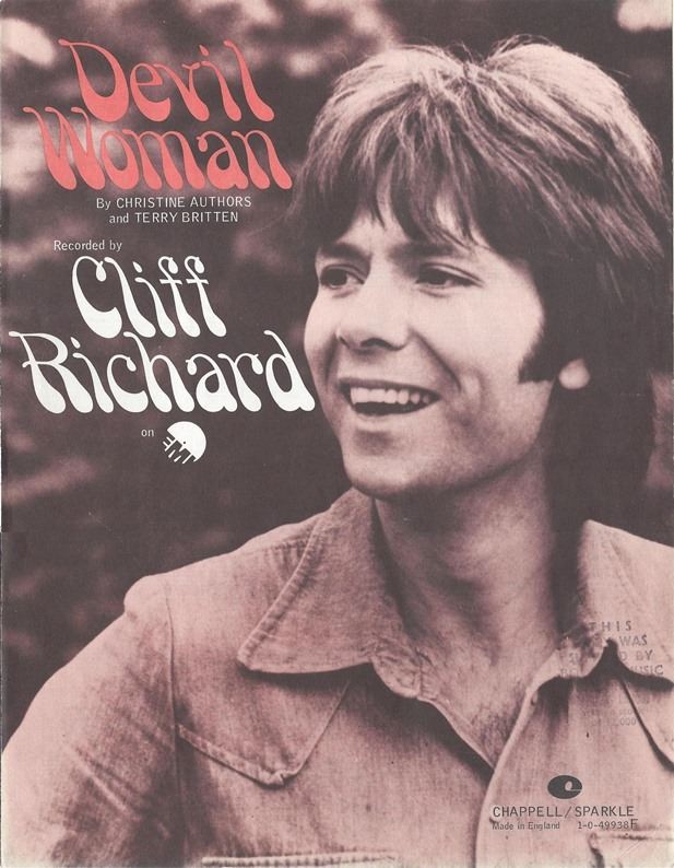 Cliff Richard Song Database - Cliff Richard - Devil Woman song analysis